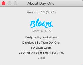 About DayOne 4.1