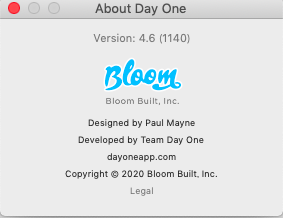 DayOne Mac 4.6 Beta3